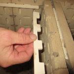 Schamottekämme für die horizontalen Schamottesteine